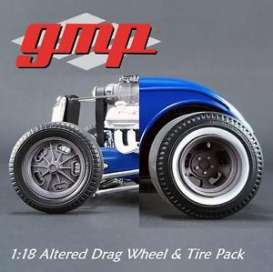 GMP - Rims & tires Wheels & tires - gmp18864 : Altered Drag Wheel & Tire Pack Magnesium Finish (from GMP-18829)