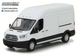 Ford  - Transit Extended Van High Roof 2017 Oxford white - 1:43 - GreenLight - 86083 - gl86083 | The Diecast Company
