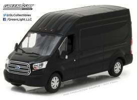 GreenLight - Ford  - gl86084 : 2017 Ford Transit Extended Van High Roof, black
