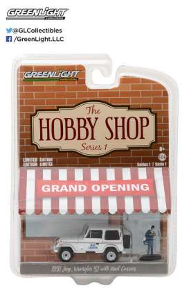 GreenLight - Jeep  - gl97010D : 1991 Jeep Wrangler YJ USPS with USPS Mail Carrier *The Hobby Shop Series 1*