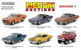GreenLight - Assortment/ Mix  - gl37110~12 : 1/64 Mecum Auctions Collector Cars Series 1 assortment of 12.