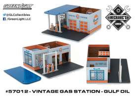GreenLight - Accessoires  - gl57012 : 1/64 Vintage Gas Station Gulf Oil *Mechanic