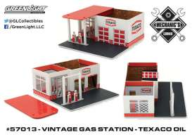 GreenLight - Accessoires  - gl57013 : 1/64 Vintage Gas Station Texaco Oil *Mechanic