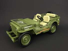 Jeep Willys - US Army 1944 army green - 1:18 - American Diorama - AD-77404 - AD77404 | The Diecast Company