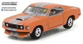 Ford  - 1969 orange/silver - 1:64 - GreenLight - 37110A - gl37110A | The Diecast Company