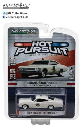 GreenLight - Chevrolet  - gl42800A : 1967 Chevrolet Biscayne Indiana State Police *Hot Pursuit series 23*