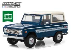 Ford  - Bronco Explorer 1976 blue/white - 1:18 - GreenLight - 19035 - gl19035 | The Diecast Company