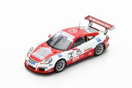 Porsche  - 2016 red/white - 1:43 - Spark - s5152 - spas5152 | The Diecast Company