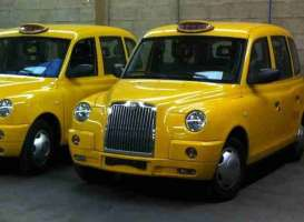 London TX Taxi Cab  - 2007 sunburst yellow - 1:18 - SunStar - 5254 - sun5254 | The Diecast Company