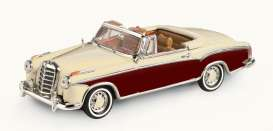 Mercedes Benz  - 220 SE Cabriolet 1958 ivory/red - 1:43 - Vitesse SunStar - 28627 - vss28627 | The Diecast Company