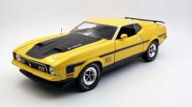 Ford  - Mustang Mach I 351 Ram Air 1971 medium bright yellow - 1:18 - SunStar - 3637 - sun3637 | The Diecast Company