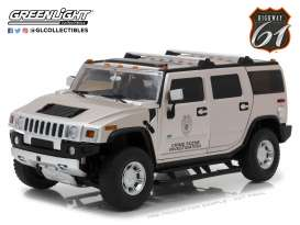 Hummer  - 2003 grey - 1:18 - Highway 61 - hwy18006 | The Diecast Company