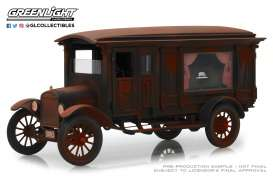 Ford  - Model T Hearse 1921 brown-red - 1:18 - GreenLight Precision Collection - GLPC18014 | The Diecast Company