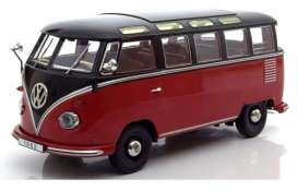 Volkswagen  - T1 Samba bus 1961 black/red - 1:18 - KK - Scale - kkdc180153 | The Diecast Company