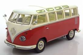 Volkswagen  - T1 Samba bus 1961 red/cream - 1:18 - KK - Scale - kkdc180151 | The Diecast Company