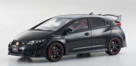 Honda  - Civic Type R 2015 black - 1:18 - Kyosho - kyoKSR18022bk | The Diecast Company