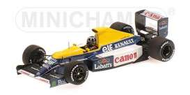 Williams Renault - 1991 blue/yellow - 1:43 - Minichamps - 437910000 - mc437910000 | The Diecast Company