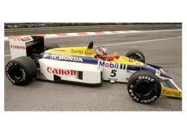Minichamps - Williams Honda - mc117860005 : 1986 Williams Honda FW11 *Nigel Mansell* *Resin Series*, white/blue/yellow