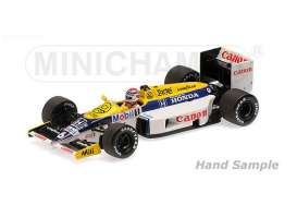 Williams Honda - 1986 white/blue/yellow - 1:18 - Minichamps - mc117860006 | The Diecast Company