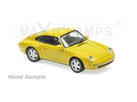 Porsche  - 1993 yellow - 1:43 - Maxichamps - 940063000 - mc940063000 | The Diecast Company