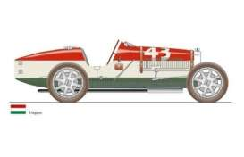 CMC - Bugatti  - cmc100-014 : 1924 Bugatti T35 Nation Color Project *Hungary*, red/white/green