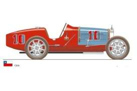 CMC - Bugatti  - cmc100-015 : 1924 Bugatti T35 Nation Color Project *Chile*, red/blue