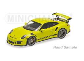 Porsche  - 2013 light green - 1:18 - Minichamps - mc155066222 | The Diecast Company