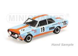 Minichamps - Opel  - mc155714618 : 1971 Opel Commodore A Steinmetz Joossens/Byttebier 24H Spa, gulf blue/orange