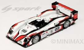 Audi  - R8 2004 white/red - 1:43 - Spark - 43LM04 - spa43LM04 | The Diecast Company