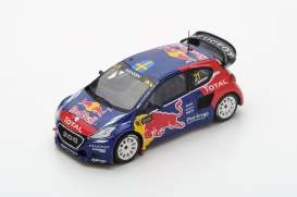 Peugeot  - 2016 blue/red/yellow - 1:43 - Spark - s5198 - spas5198 | The Diecast Company