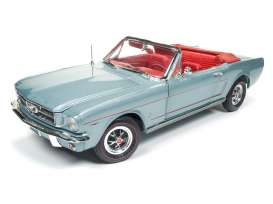 Auto World - Ford  - AMM1103 : 1965 Ford Mustang Convertible *American Muscle Series*, silver/gray
