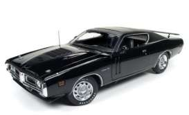 Dodge  - Charger R/T hardtop 1971 black - 1:18 - Auto World - AMM1107 | The Diecast Company