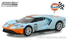 Ford  - GT 2017 gulf blue/orange - 1:64 - GreenLight - 29909 - gl29909 | The Diecast Company