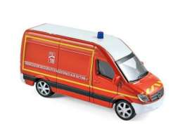 Norev - Mercedes  - nor310801 : 1/64 Mercedes Benz Sprinter Pompiers, red
