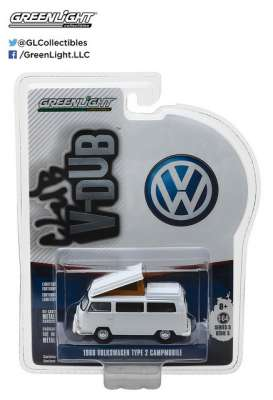 GreenLight - Volkswagen  - gl29870B : 1968 Volkswagen Type 2 Campmobile with Hurst Bumper *Club Vee-Dub series 5*