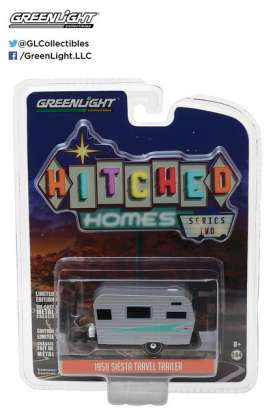 GreenLight - Siesta Travel Trailer  - gl34020A : 1958 Siesta *Hitched homes series 2*, silver
