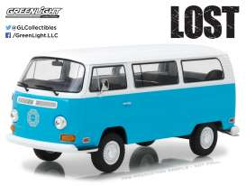 Volkswagen  - T2B *Lost* 1971 bleu/white - 1:24 - GreenLight - gl84033 | The Diecast Company