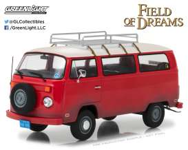 Volkswagen  - T2B  1973 red - 1:24 - GreenLight - gl84034 | The Diecast Company