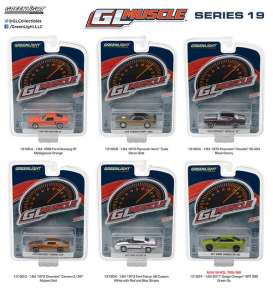 GreenLight - Assortment/ Mix  - gl13190~12 : 1/64 Muscle Series 19, mix box with 12 pcs.