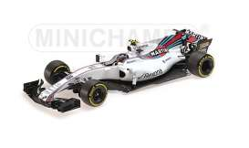 Williams Mercedes Benz - 2017 white/red-blue stripes - 1:18 - Minichamps - 117170018 - mc117170018 | The Diecast Company