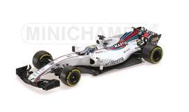 Williams Mercedes Benz - 2017 white/red-blue stripes - 1:18 - Minichamps - 117170019 - mc117170019 | The Diecast Company