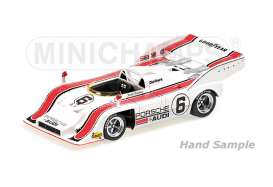 Minichamps - Porsche  - mc437726506 : 1972 Porsche 917/10 Team Penske Marc Donohue 2nd Place Mosport Can Am *Resin series*, white/red