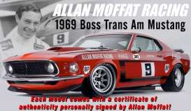 Acme Diecast - Ford  - acme1801820 : 1969 Boss 302 Ford Trans AM Mustang #9 Allan Moffat Racing, red