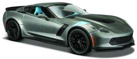 Maisto - Chevrolet  - mai31516gy : 2017 Chevrolet Corvette Grand Sport, grey metallic