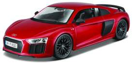 Audi  - R8 red - 1:24 - Maisto - 39510 - mai39510 | The Diecast Company