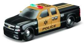 Maisto - Chevrolet  - mai15494-16905 : 2004 Chrevrolet Silverado SS Police Authority, black/gold