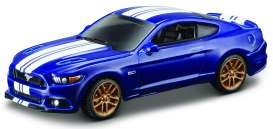 Maisto - Ford  - mai15494-13094 : 2015 Ford Mustang GT Muscle, blue/white