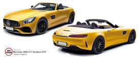 Norev - Mercedes  - nor183451 : 2017 Mercedes AMG GT C Roadster, yellow metallic