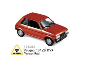 Peugeot  - 1979 corail red - 1:43 - Norev - nor471403 | The Diecast Company