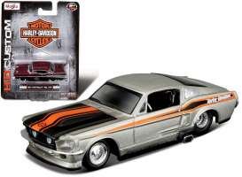 Maisto - Ford  - mai15380-05034 : 1967 Ford Mustang GT *Harley Davidson*, silver/black